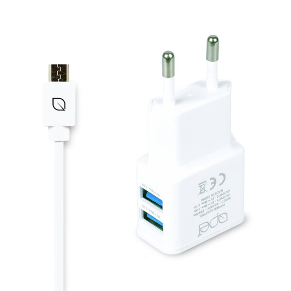 Apei Fast Charge 2x USB adapter + 1x MicroUSB kabel – nabíječka