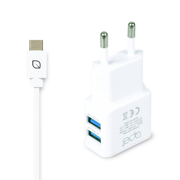 Apei Fast Charge 2x USB adapter + 1x USB-C kabel – nabíječka