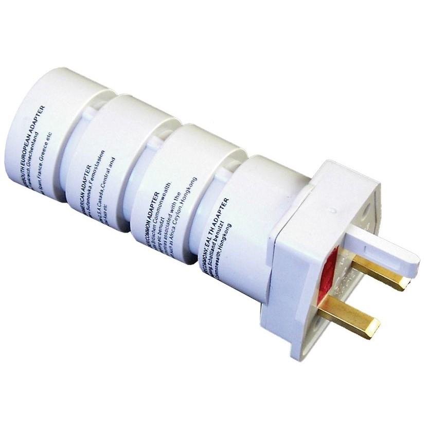 Solight cestovní adaptér, skládací, bílý