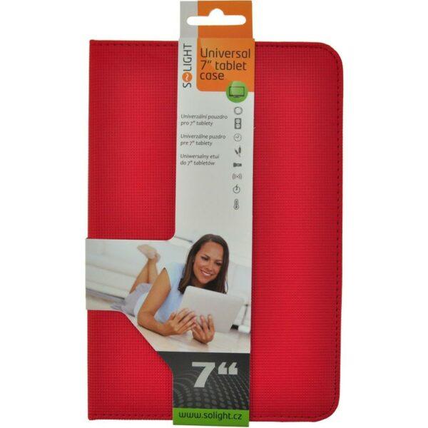 """Solight univerzální pouzdro – desky z polyuretanu pro tablet nebo čtečku 7"""", červené"""