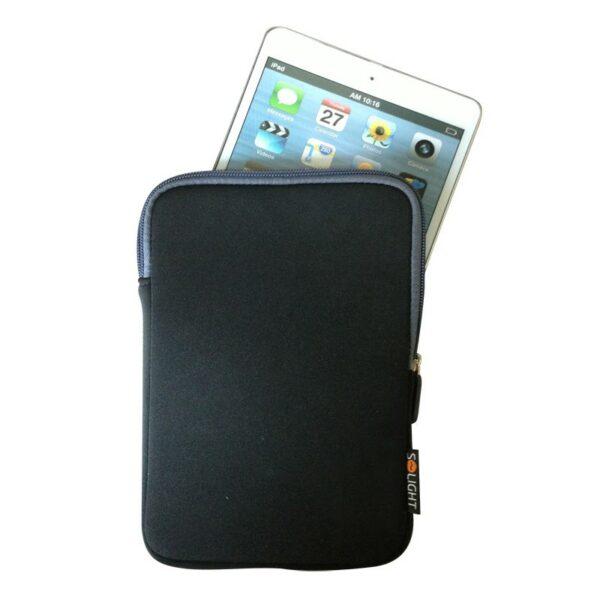 """Solight neoprenové pouzdro na tablet, e-čtečku do 8"""", nárazuvzdorné polstrování, černé"""