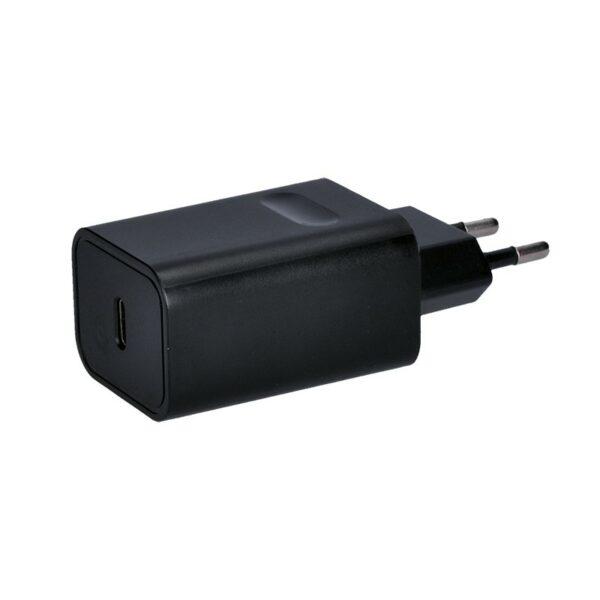 Solight USB nabíjecí adaptér, 1x USB type-C, 5V-3A/9V-2A/15V-1.2A, 18W max.