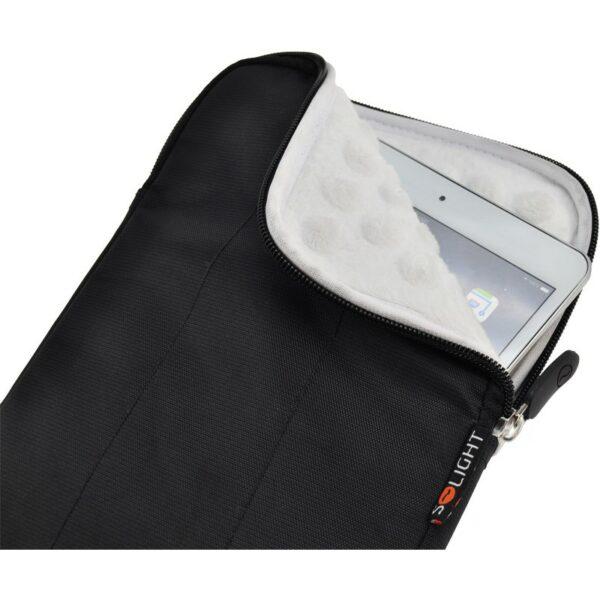"""Solight nylonové pouzdro na tablet, e-čtečku do 8"""", nárazuvzdorné polstrování, černé"""
