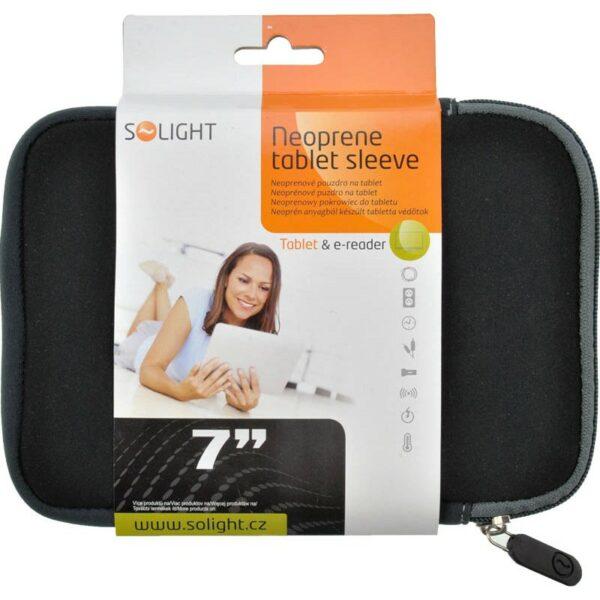 """Solight neoprenové pouzdro na tablet a e-čtečku, do 7"""", černé"""
